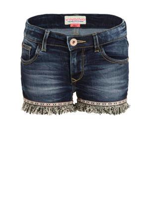 jeans short Donya met zijstreep blue vintage