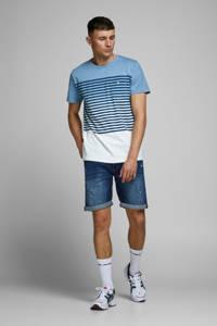 JACK & JONES ORIGINALS gestreept T-shirt Grade blauw, Blauw/donkerblauw/wit