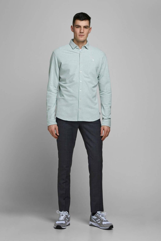 JACK & JONES PREMIUM slim fit overhemd grijsgroen, Grijsgroen