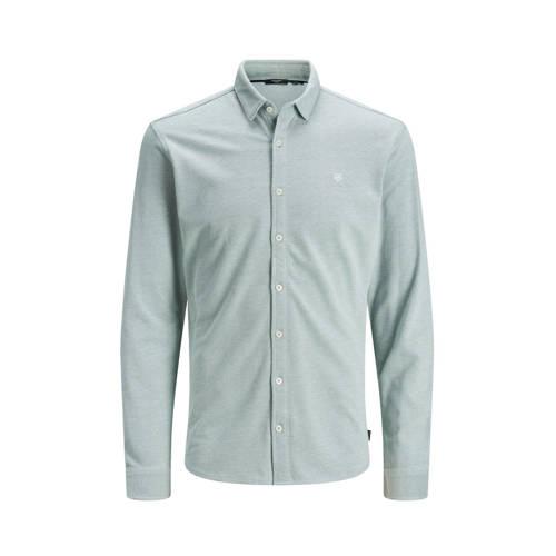 JACK & JONES PREMIUM slim fit overhemd grijsgr