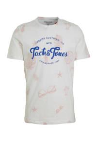 JACK & JONES ORIGINALS T-shirt Jorsander met printopdruk beige, Beige