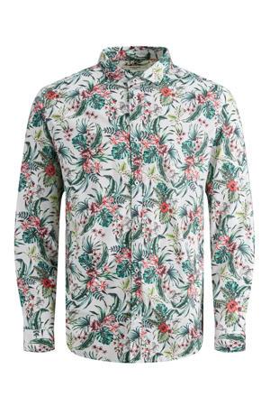 slim fit overhemd met all over print wit