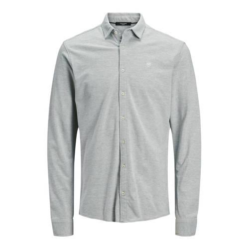 JACK & JONES PREMIUM slim fit overhemd grijs