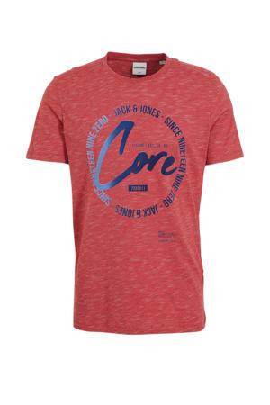 T-shirt Mick met printopdruk rood