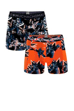 boxershort Gadgets - set van 2 oranje/blauw