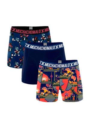 boxershort Super Nintendo - set van 3 blauw/rood