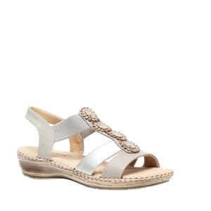 sandalen zilver/beige