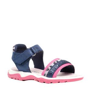 sandalen blauw/roze