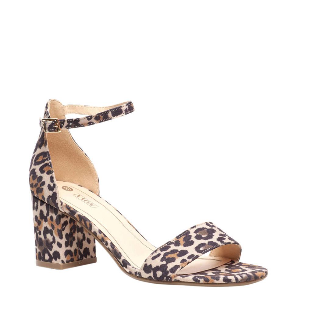 Scapino Nova   sandalettes panterprint, Bruin/beige