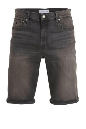 slim fit jeans short light grey