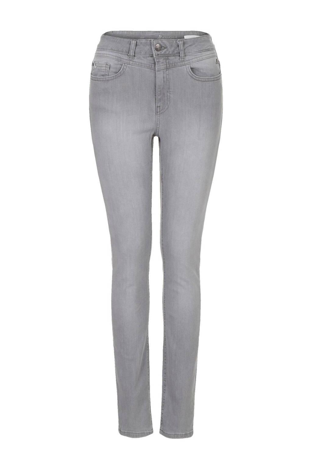 Miss Etam Regulier high waist slim fit jeans Havana grijs, Grijs