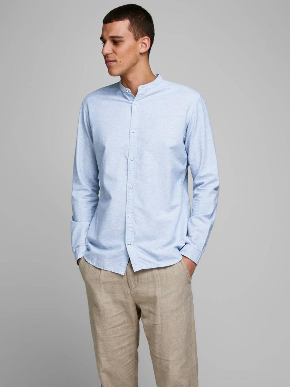 JACK & JONES ESSENTIALS slim fit overhemd lichtblauw, Lichtblauw