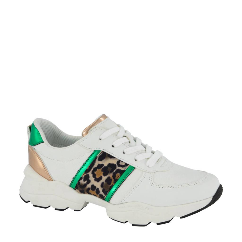 Graceland   sneakers wit/panterprint, wit/metallic