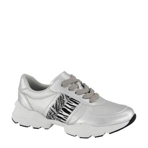 Graceland sneakers zilver/zebraprint