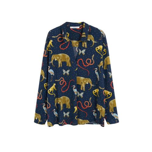 Violeta by Mango blouse met all over print marineb