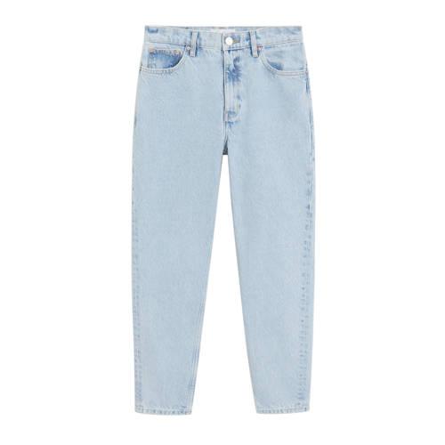Mango high waist mom jeans light blue denim