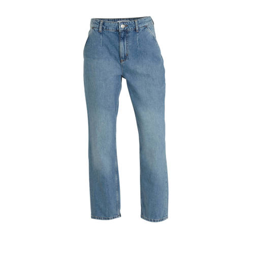 Mango cropped straight fit jeans light blue denim