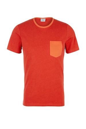 gemêleerd T-shirt oranje
