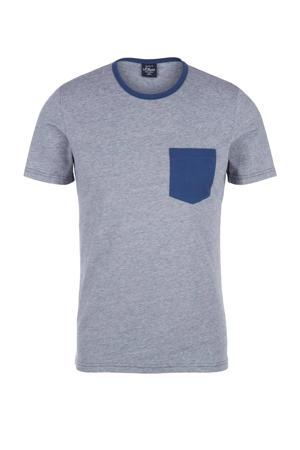 gemêleerd T-shirt blauw