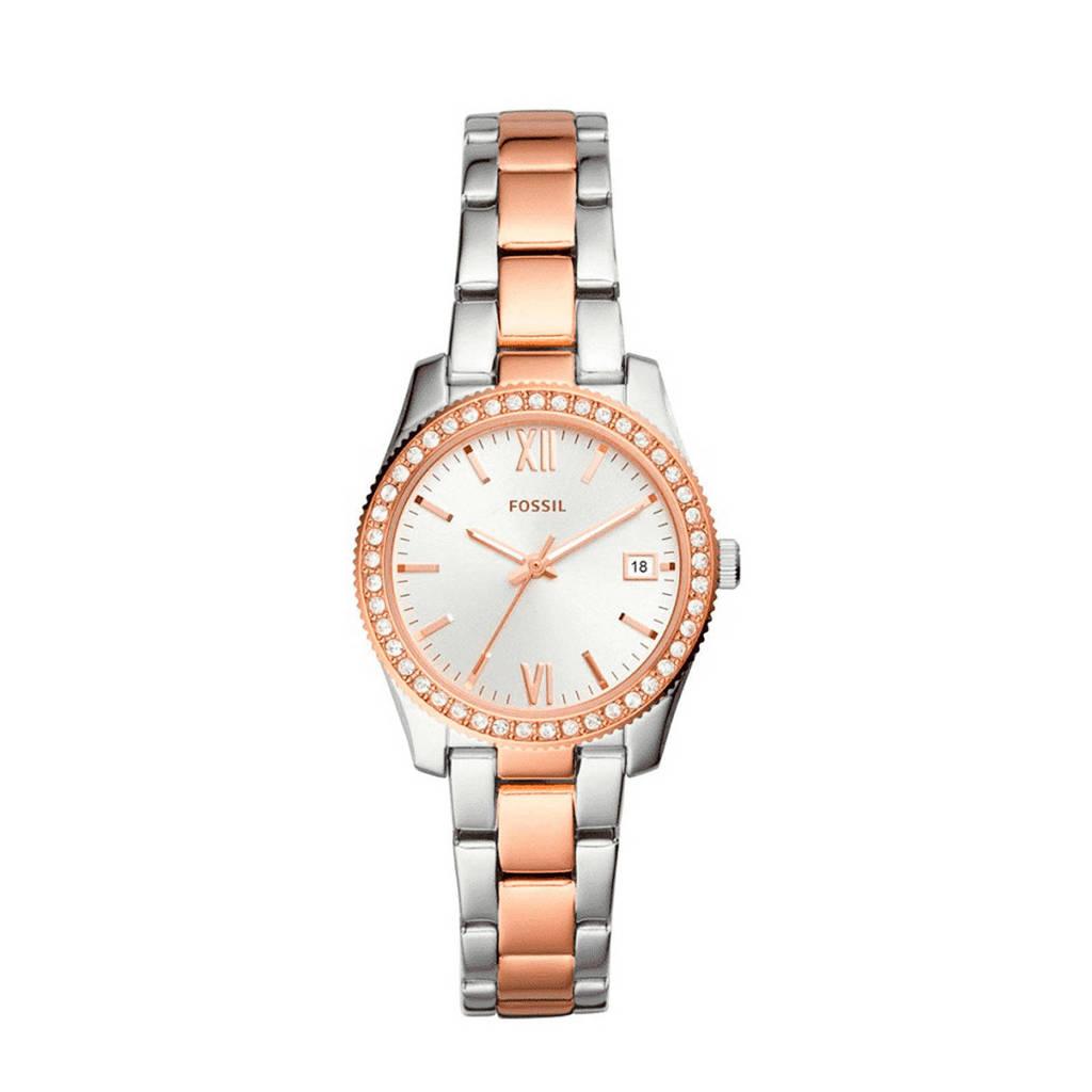 Fossil Scarlette Mini Dames Horloge ES4372, Zilver/goud
