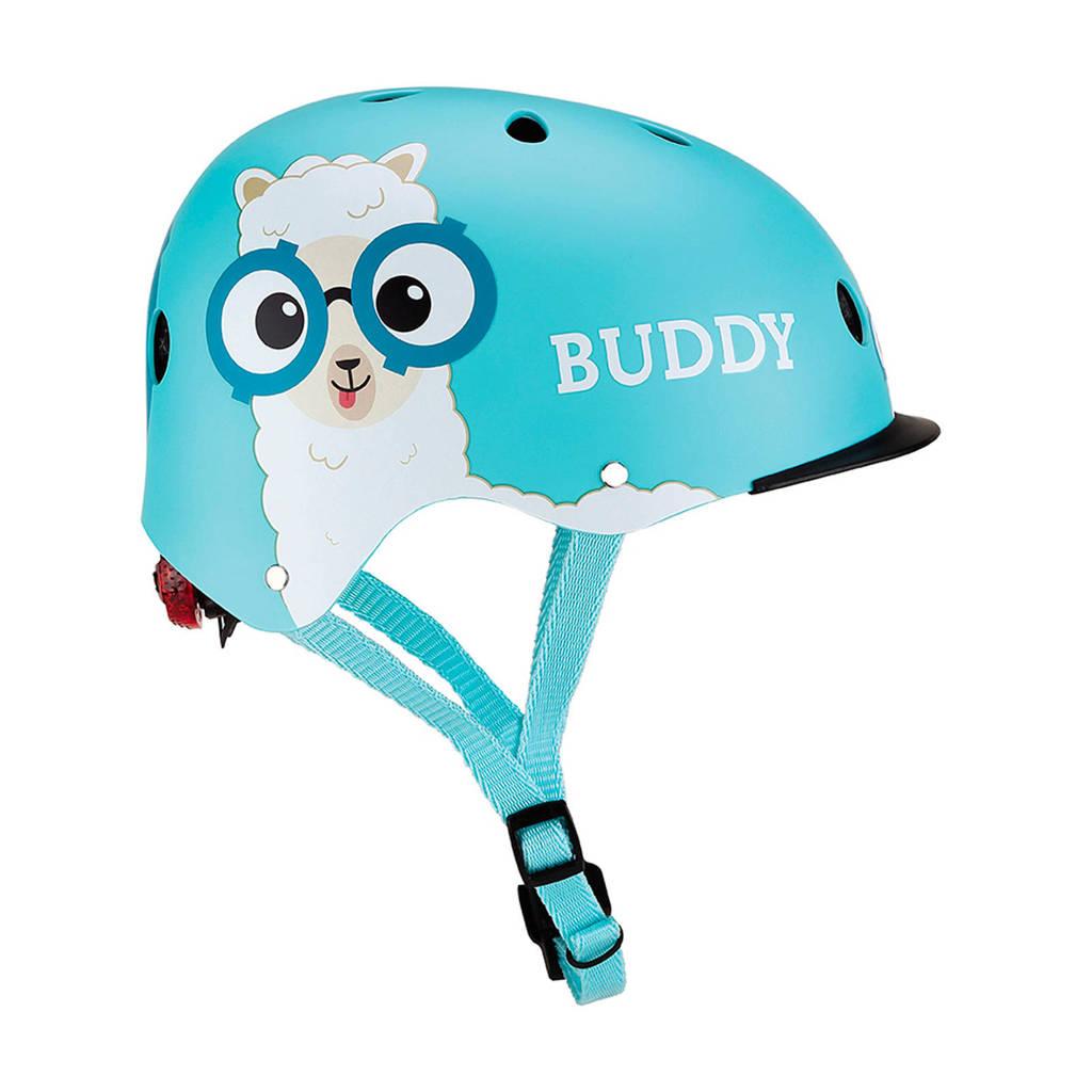 Globber kinderhelm Elite Lights  Blue Buddy, Lichtblauw