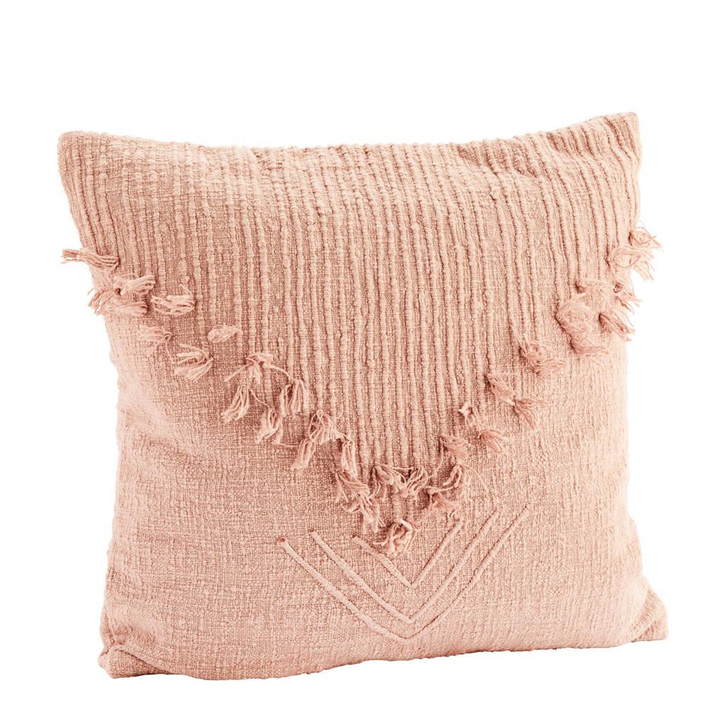 Madam Stoltz sierkussenhoes  (50x50 cm), Dust rosé