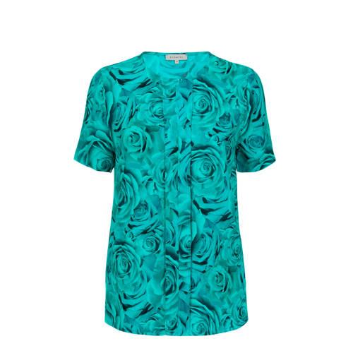 PROMISS gebloemd T-shirt blauw