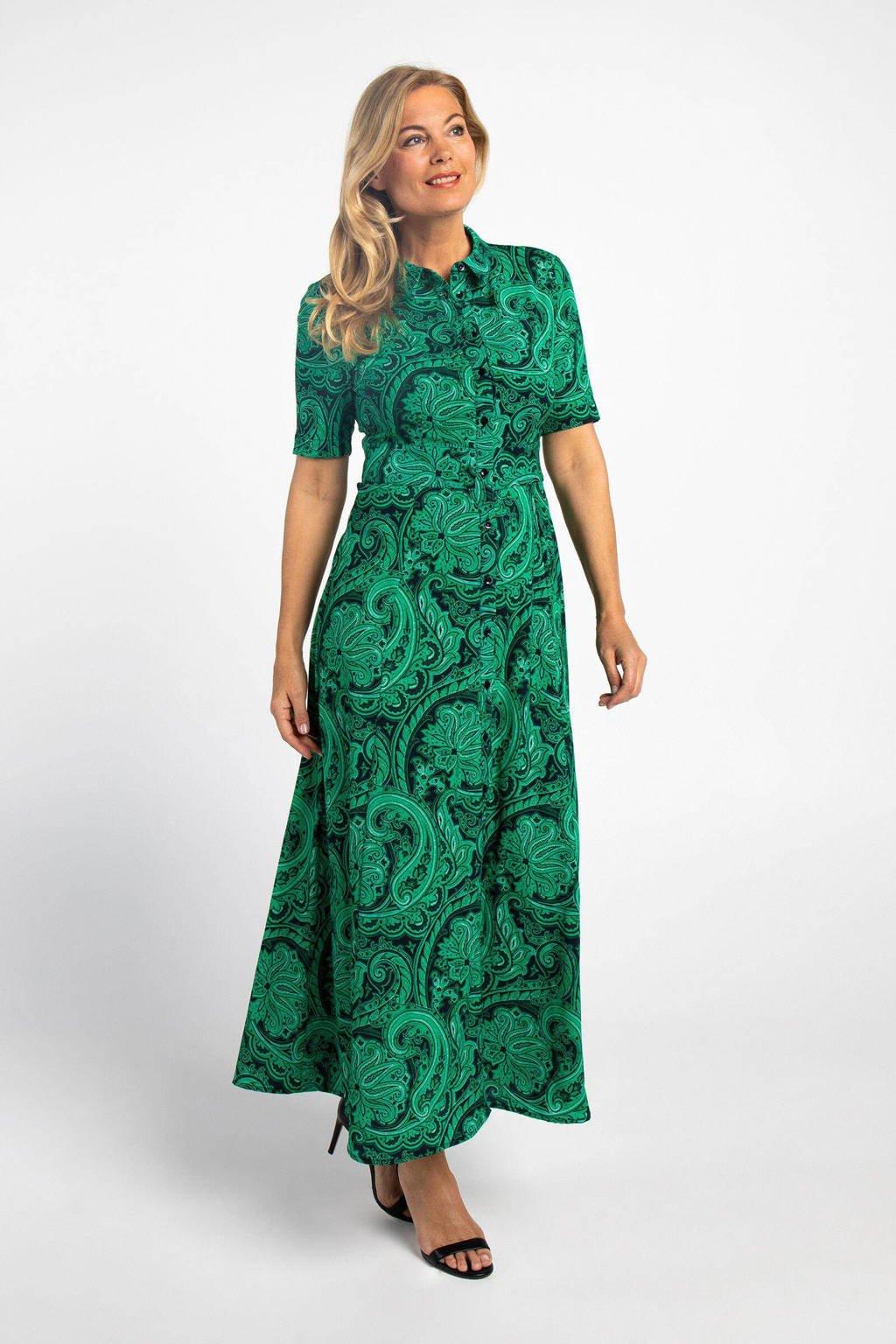PROMISS blousejurk met paisleyprint groen, Groen