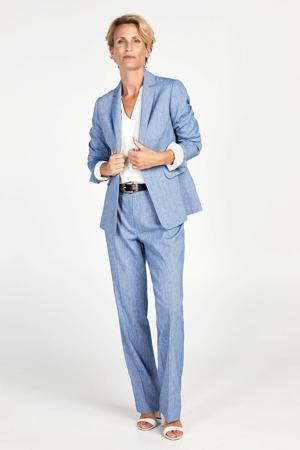 blazer met linnen blauw