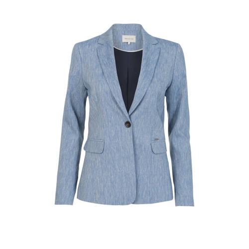 PROMISS blazer met linnen blauw
