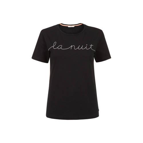 Steps T-shirt met printopdruk zwart