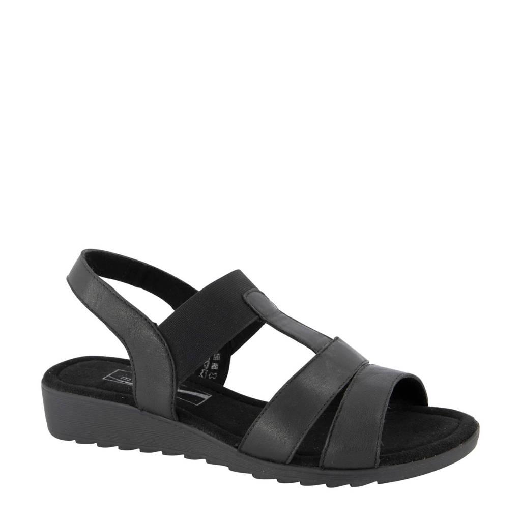 Medicus   leren sandalen zwart, Zwart