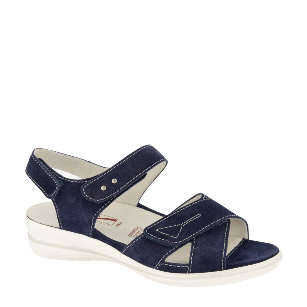 Medicus  comfort leren sandalen donkerblauw, Donkerblauw