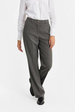 straight fit pantalon grijs