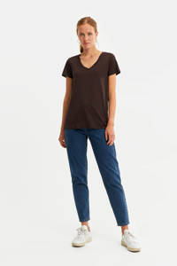 WE Fashion T-shirt bruin, Bruin