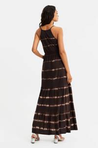WE Fashion tie-dye jurk donkerbruin, Donkerbruin