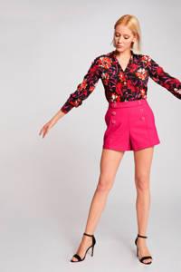 Morgan high waist straight fit short fuchsia, Fuchsia