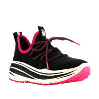 UGG Lace Runner  plateau sneakers zwart/roze, Zwart/roze