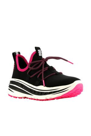 Lace Runner  plateau sneakers zwart/roze