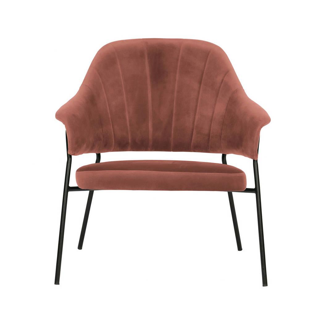 WOOOD Exclusive fauteuil Bobby, Koraalrood