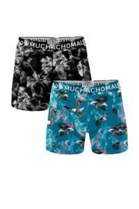 Muchachomalo boxershort (set van 2), Blauw/zwart