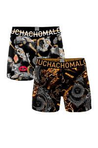Muchachomalo boxershort (set van 2), Zwart/geel/wit/rood