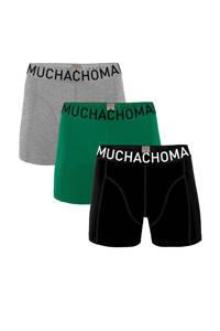 Muchachomalo boxershort (set van 3), Zwart/groen/grijs