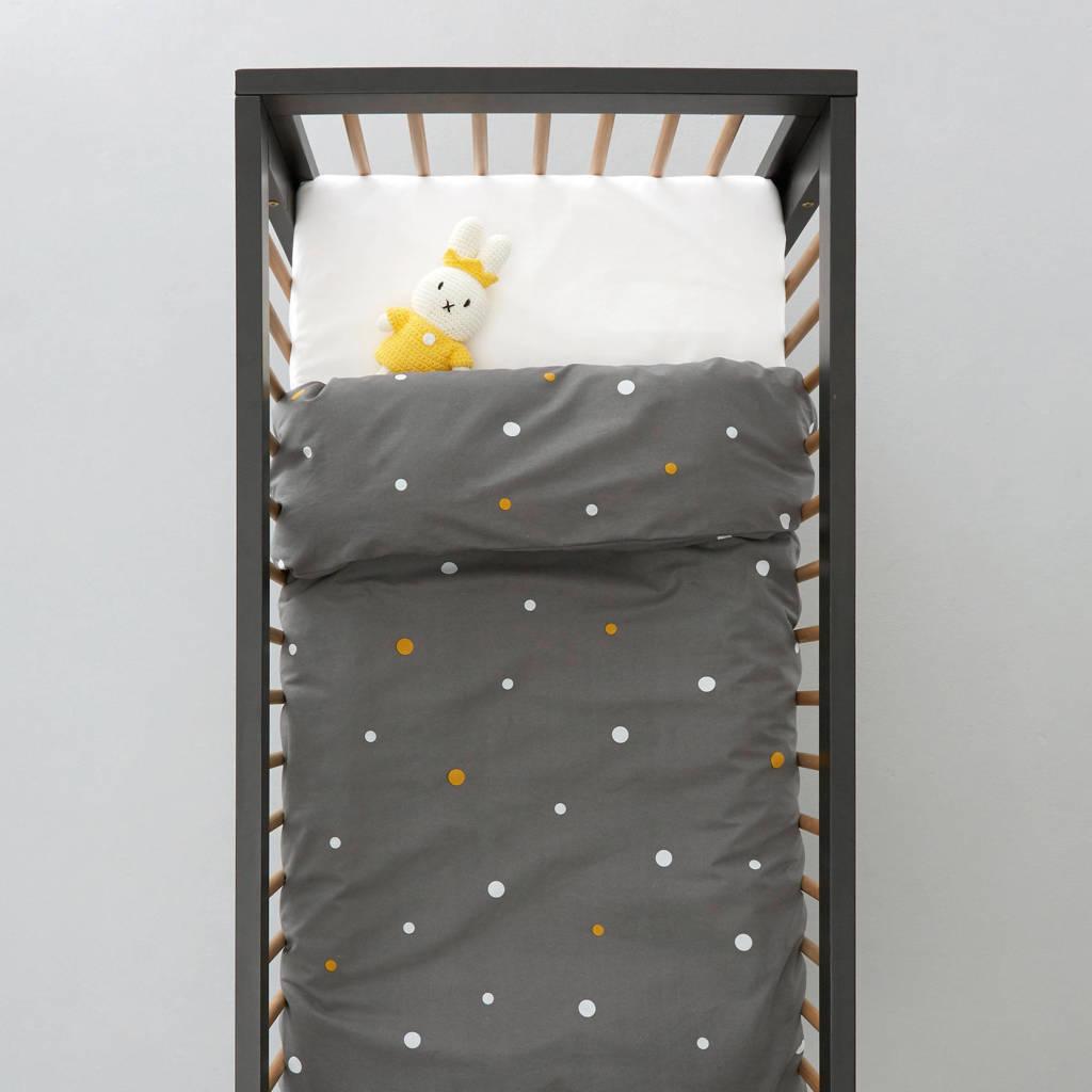 wehkamp home dekbedovertrek ledikant, Antraciet, Baby (100 cm breed)