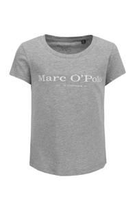 Marc O'Polo basic T-shirt met logo grijs, Grijs
