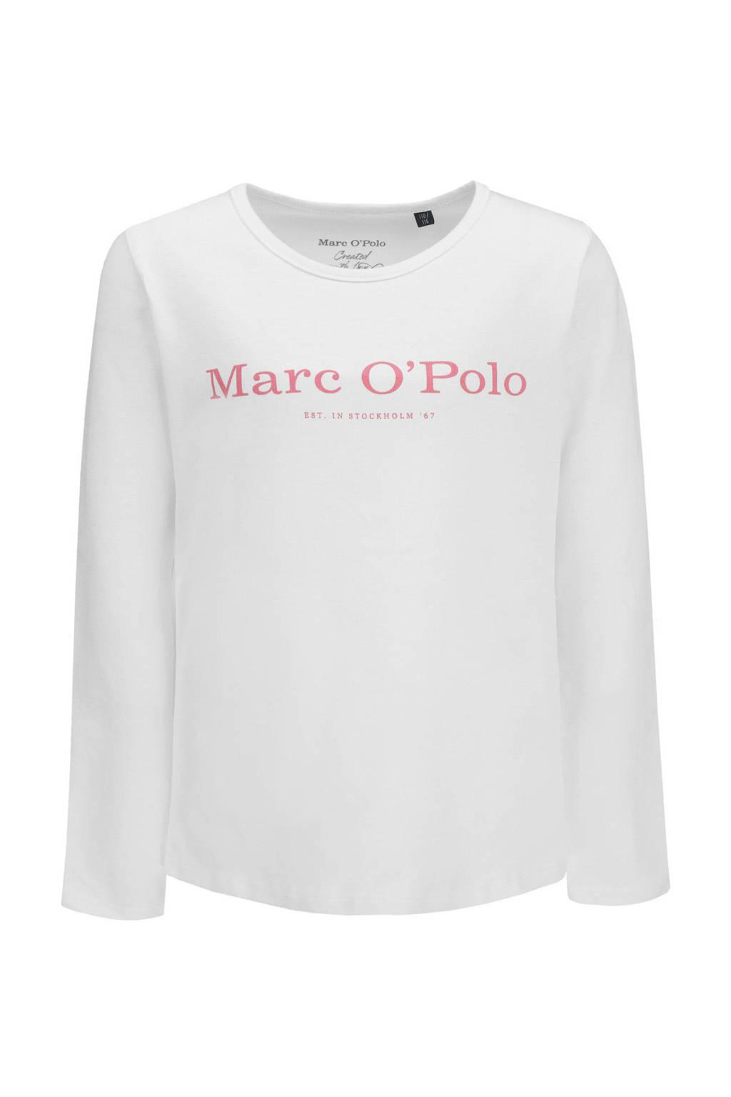 Marc O'Polo longsleeve met logo wit, Wit