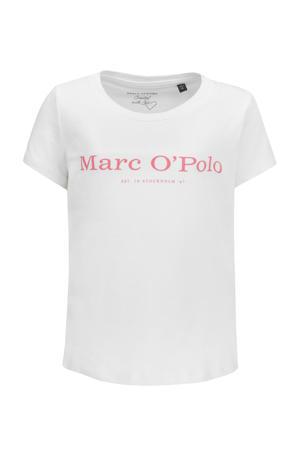 basic T-shirt met logo wit