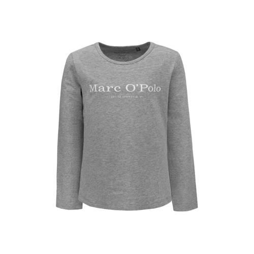 Marc O'Polo longsleeve met logo grijs