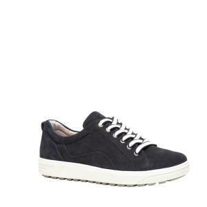 comfort leren sneakers donkerblauw