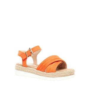 plateau sandalen oranje